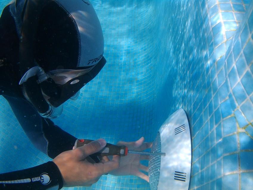 Cambio de focos fundidos con inmersión.