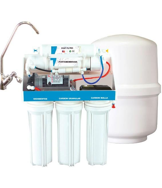 Equipo osmosis inversa 5 etapas con bomba RO-6